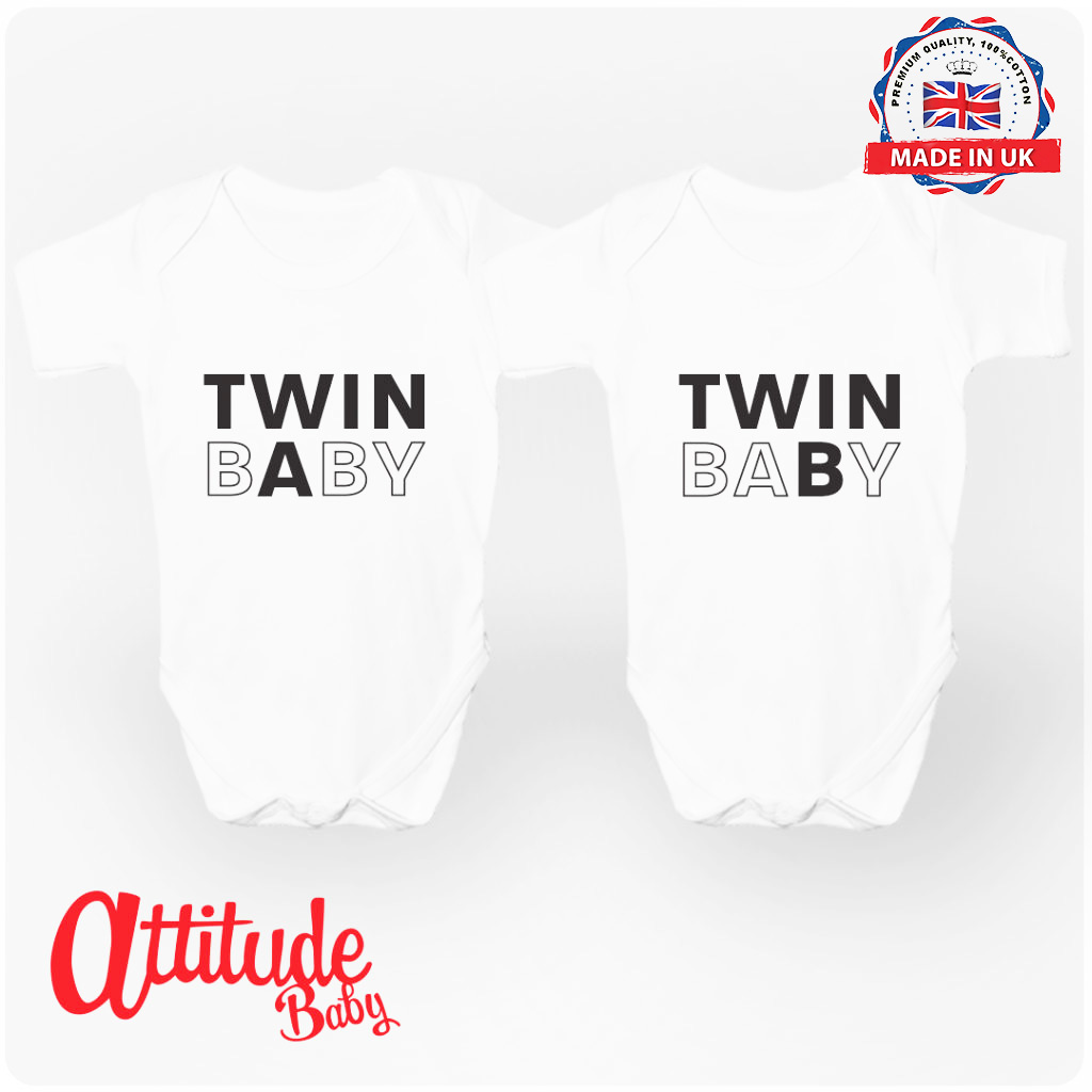 Twins Baby grows-Twins Baby Vests-Twins